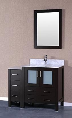 "Bosconi A130CMU1S 42"" Free Standing Vanity Set with Wood Cab"