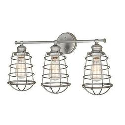 Brand New Design House 519728 Ajax 3 Light Vanity Light, Gal