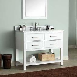 Avanity Brooks 42 in. Vanity in White finish
