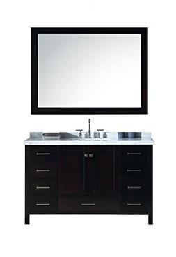 "ARIEL Cambridge A055S-CWR-ESP 55"" Inch Single Sink Bathroom"