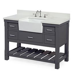 "Kitchen Bath Collection Charlotte 48"" Single Bathroom Vanity"