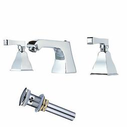LED Color Chrome Brass Waterfall Bathroom Faucet Dual Handle