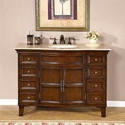 "Silkroad Exclusive Claire 48"" Single Bathroom Vanity Set"