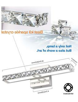 SOLFART Crystal Wall Mirror Vanity Light Fixtures For Bathro