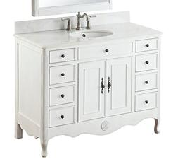 "46.5"" Benton Collection Daleville Antique White Bathroom Sin"