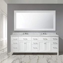 "Design Element DEC076-84-W London 84"" Double Sink Vanity Set"