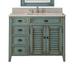 "42"" Benton Collection Distress Blue Abbeville Bathroom Sink"