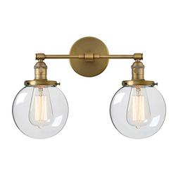 Phansthy Double Sconce Vintage Industrial 2-Light Wall Light
