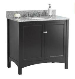 Foremost Haven 36 in. Vanity Cabinet Only in Espresso - Mode