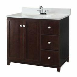 Design House Furniture Style 36 in. 3 Drawer Single Bathroom