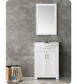 "Fresca FVN2302WH-CMB Hartford 24"" White Traditional Bathroom"