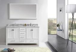 Virtu GD-50060-WMSQ-WH Caroline Avenue Double Bathroom Vanit