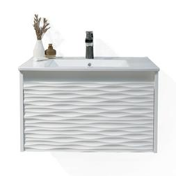 Glossy White Luxury Vanity With Ceramic Sink