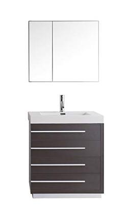 Virtu USA Bailey 30 inch Single Sink Bathroom Vanity Set in