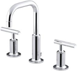 KOHLER Purist K-14406-4-CP Widespread Bathroom Sink Faucet w