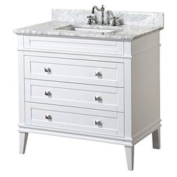 Kitchen Bath Collection KBC-L36WTCARR Eleanor Bathroom Vanit