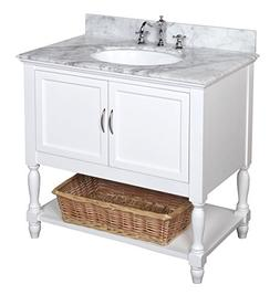 Kitchen Bath Collection KBC005WTCARR Beverly Bathroom Vanity