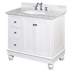 Kitchen Bath Collection KBC2236WTCARR Bella Bathroom Vanity