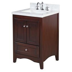 Kitchen Bath Collection KBC3824BRCARR Abbey Bathroom Vanity