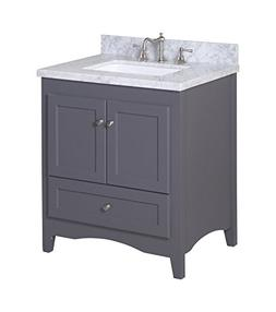 Kitchen Bath Collection KBC3830GYCARR Abbey Bathroom Vanity