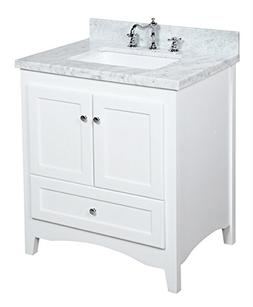 Kitchen Bath Collection KBC3830WTCARR Abbey Bathroom Vanity