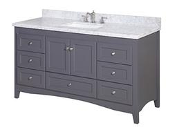 Kitchen Bath Collection KBC38601GYCARR-S Abbey Single Sink B