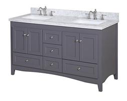 Kitchen Bath Collection KBC38602GYCARR-D Abbey Double Sink B
