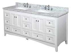 Kitchen Bath Collection KBC3872WTCARR Abbey Bathroom Vanity