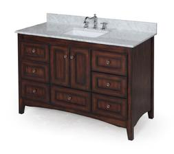 Kitchen Bath Collection KBC388BRCARR Abbey Bathroom Vanity w