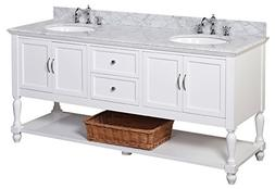 Kitchen Bath Collection KBC6672WTCARR Beverly Bathroom Vanit