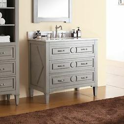 Avanity Kelly 36-inch Vanity in Grayish Blue with with Sink