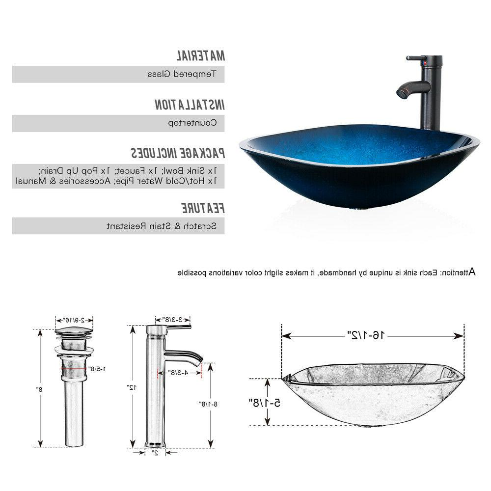 """24"""" White Mirror Cabinet Glass Sink Faucet US"""