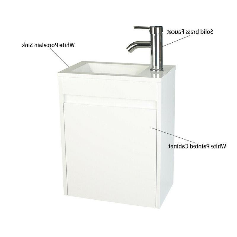 16'' Bathroom Floating Wall Mounted Sink