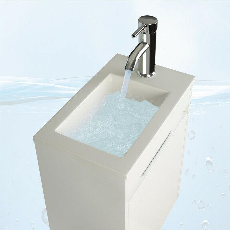 16'' Bathroom Vanity Floating Wall Mounted Sink