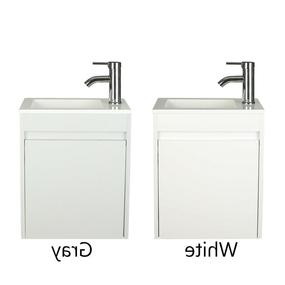 16 small bathroom vanity floating wall mounted