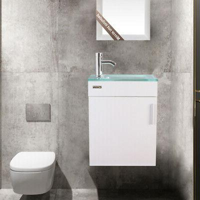 19 bathroom vanity white small wall mount
