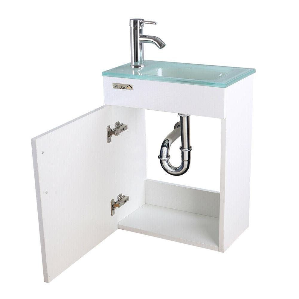 """19"""" Vanity Cabinet Sink Faucet White"""