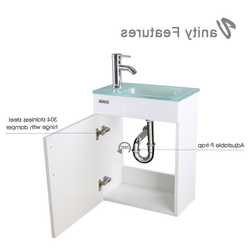 Vanity Glass Faucet Combo White