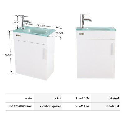 "19"" White Small Sink Faucet Drain Combo P"