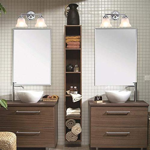 7Pandas Bathroom Vanity Light, Interior Bathroom Mirror W/Frosted Glass Shade,