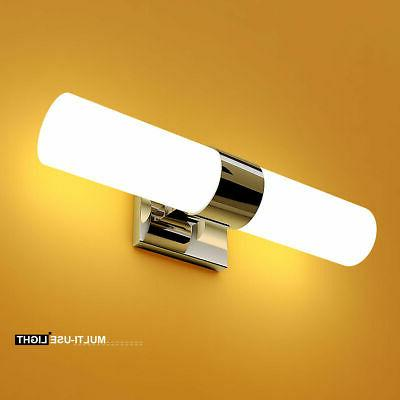 2 light led vanity fixture polished chrome