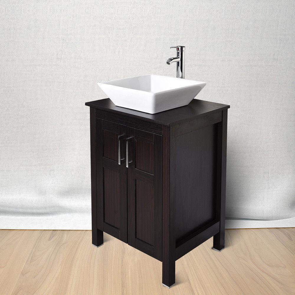 24'' Cabinet Top Vessel Sink Basin Set