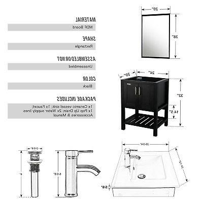 "24"" Bathroom Ceramic Sink W/ Faucet"