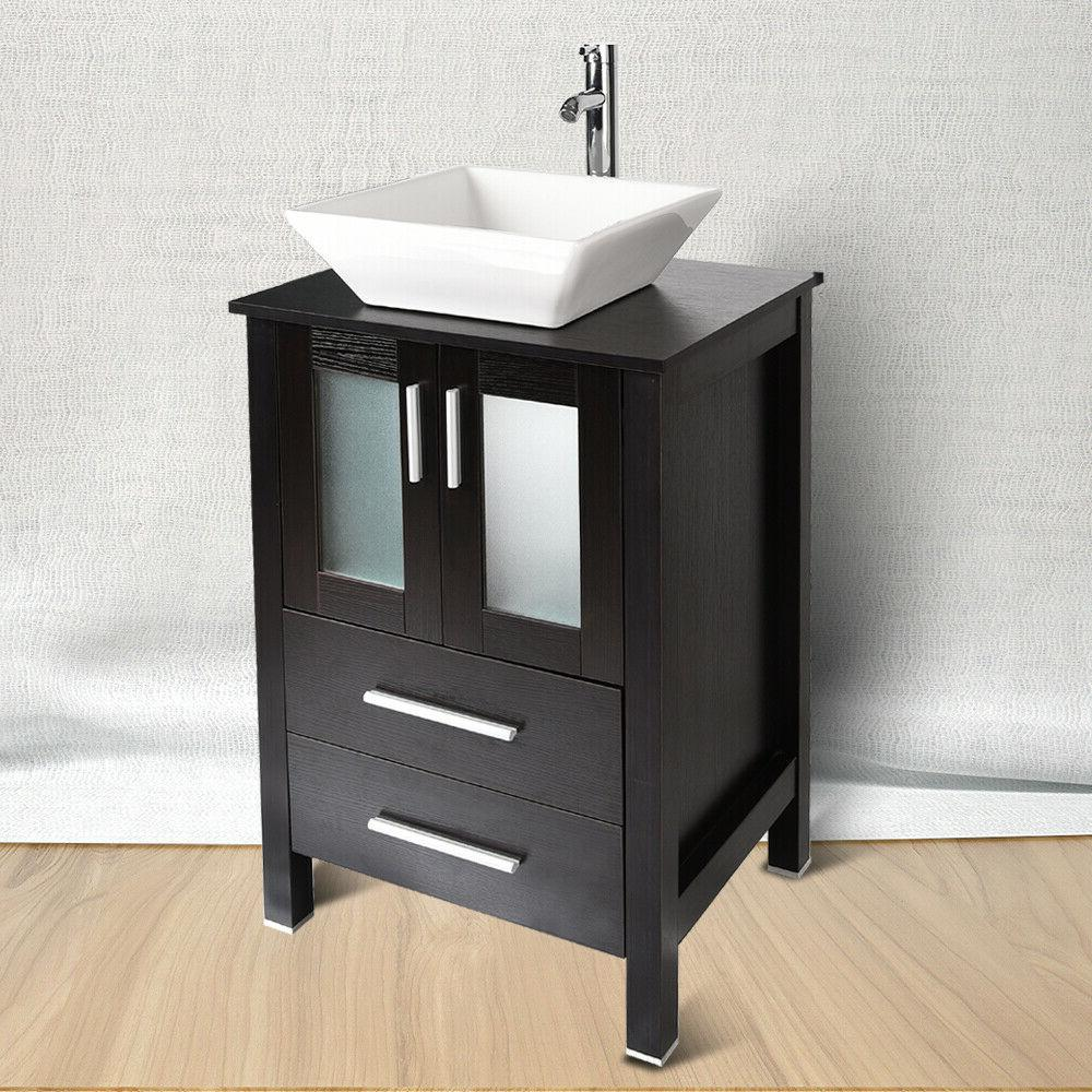 24'' Vanity Single Cabinet Counter Sink US