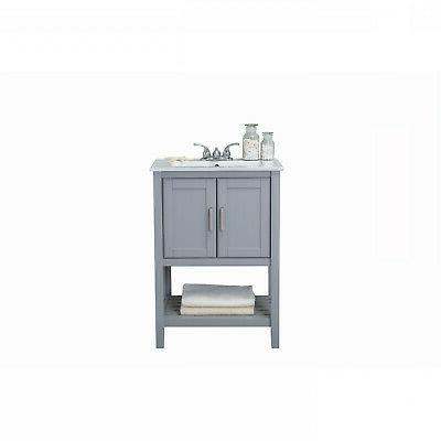 24 In. Bathroom Vanity Single Ceramic Top