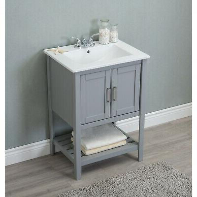Vanity With Single Ceramic Top
