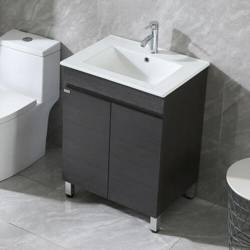 24 Black Design Bathroom Cabinet Sink