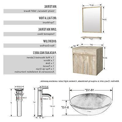 "24"" Bathroom Faucet Wall"