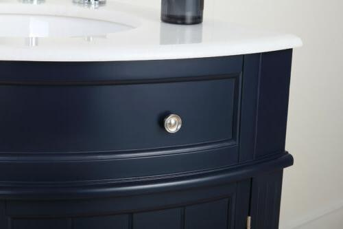 """24"""" Collection Navy Blue Vanity"""