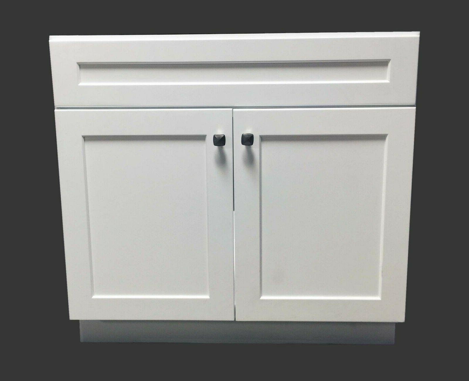 new white shaker bathroom vanity base cabinet